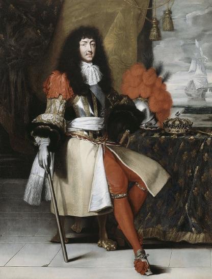 Portret van Lodewijk XIV (1638-1715) uit ca. 1670.