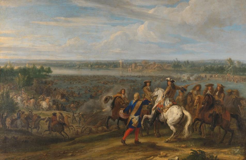 Lodewijk XIV trekt op 12 juni 1672 bij het Tolhuis bij Lobith de Rijn over
