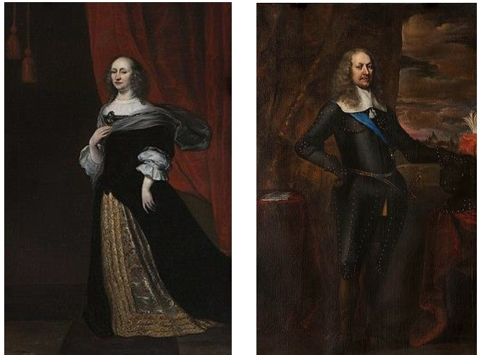 Portretten van Margaretha Turnor en Godard Adriaan van Reede-Van Amerongen.