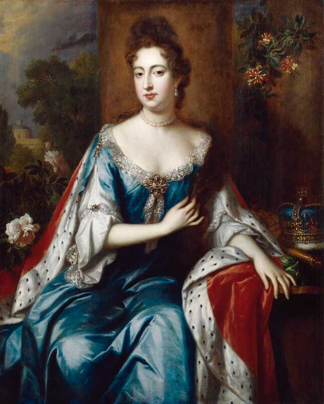Portret van Maria Stuart II (1662-1695), de vrouw van Willem III