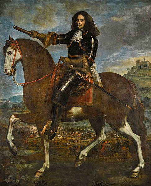Portret van de Franse veldheer Hendri de La Tour d'Auvergne (Turenne) (1611-1675)