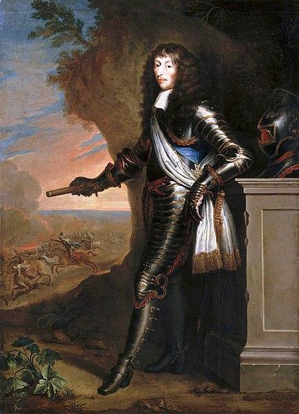Portret van de Franse veldheer Lodewijk II van Bourbon-Condé (1621-1686)