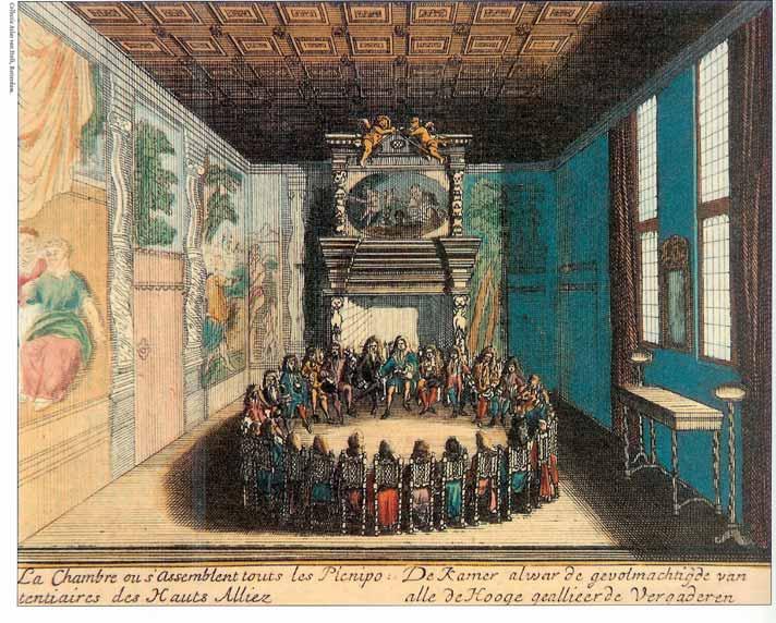 Gezanten van de geallieerden vergaderen te Rijswijk Via Historische Vereniging Rijswijk