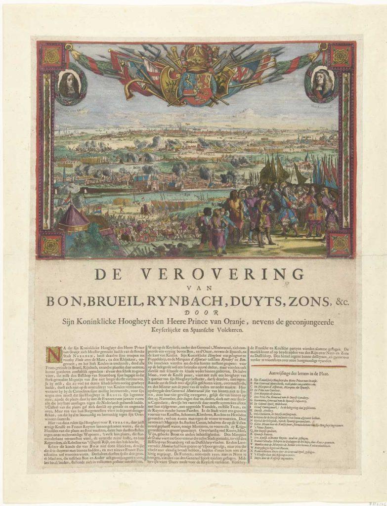Het leger van Willem III veroverde in 1673 diverse steden in het Duitse rijk