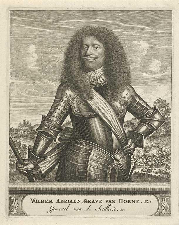 Gravure van Willem Adriaan, graaf van Hoorne (1633-1694)