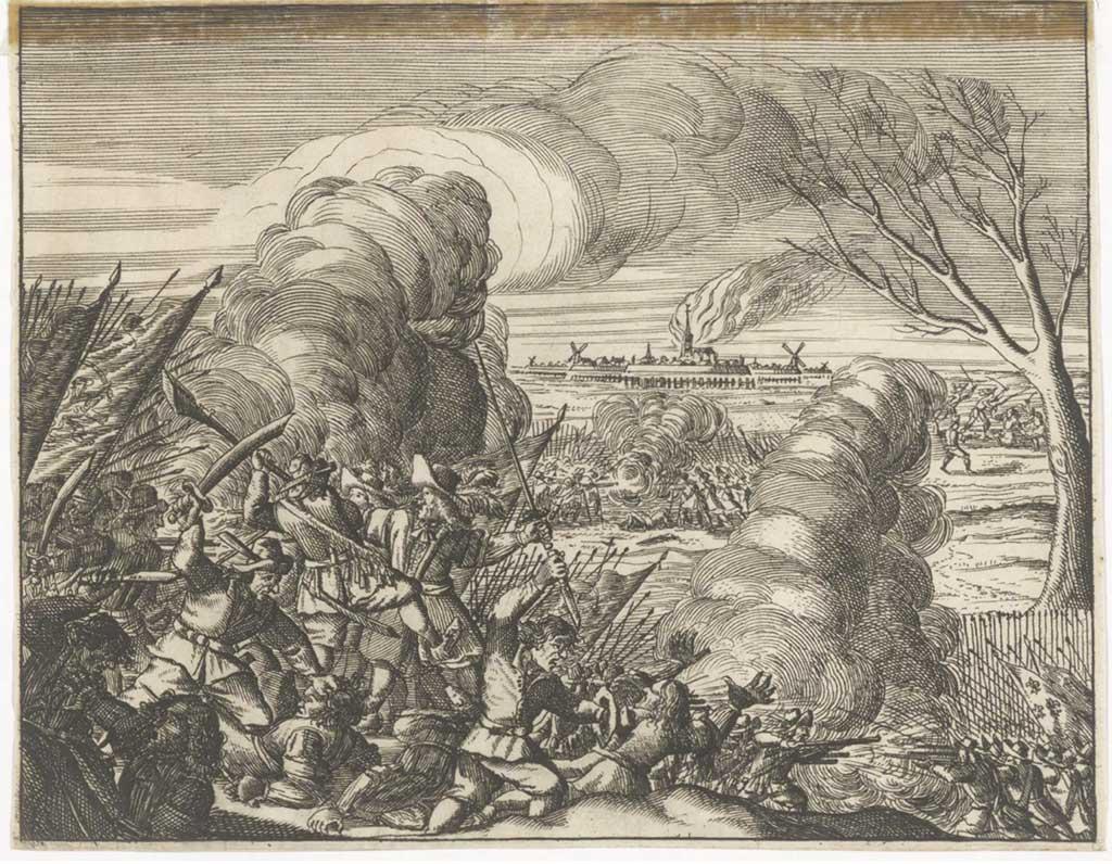 Afbeelding van de slag bij Kruipin (11/12 oktober 1672)