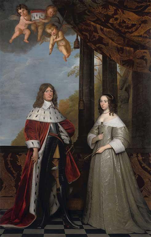 Portret van Frederik Willem van Brandenburg (1620-1688) en zijn vrouw Louisa Henriette, gravin van Nassau (1627-1667)
