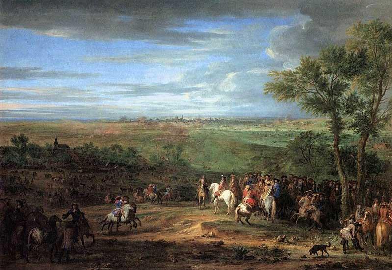 Lodewijk XIV arriveert met zijn leger voor Maastricht (1673)
