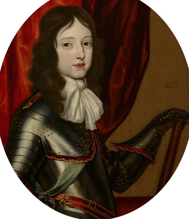 Portret van Willem III op 10-jarige leeftijd.