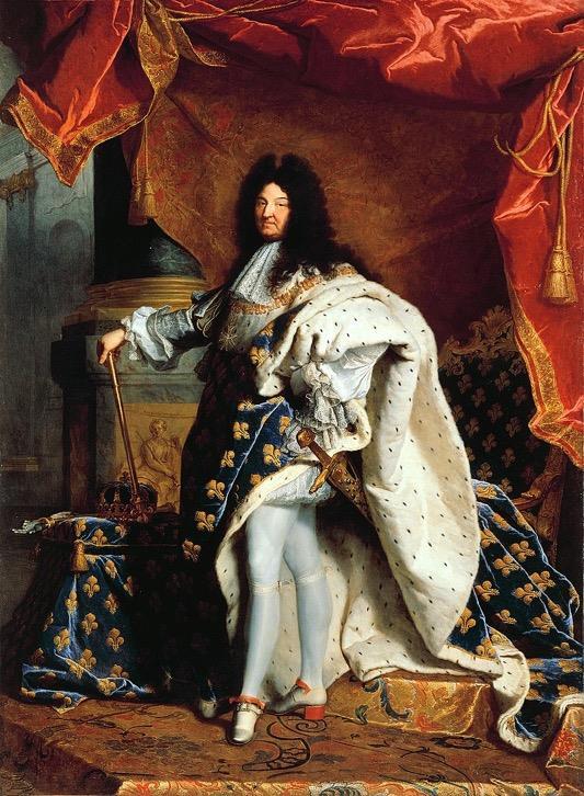 Portret van Lodewijk XIV.