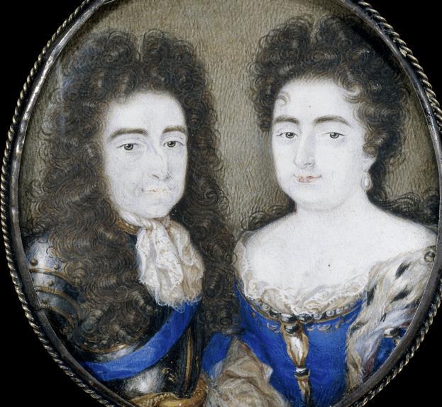 Dubbelportret van Willem III en zijn vrouw Maria Stuart