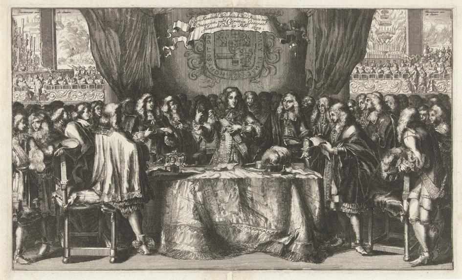Willem III wordt ingezworen als kapitein-generaal van de Unie.